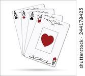 ace of spades  hearts  diamonds ... | Shutterstock . vector #244178425