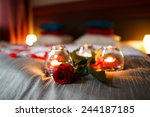 romantic valentines day evening.... | Shutterstock . vector #244187185