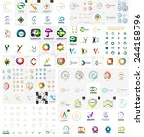 logo mega collection  abstract... | Shutterstock .eps vector #244188796