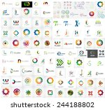 logo mega collection  abstract... | Shutterstock .eps vector #244188802