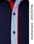 closeup shirt pattern with... | Shutterstock . vector #244193746
