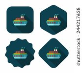 transportation ferry flat icon... | Shutterstock .eps vector #244217638