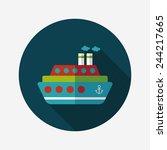transportation ferry flat icon... | Shutterstock .eps vector #244217665
