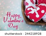 valentines day background with...   Shutterstock . vector #244218928