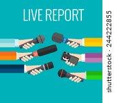 journalism concept vector   set ...   Shutterstock .eps vector #244222855