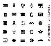 businessman item icons on white ... | Shutterstock .eps vector #244224862