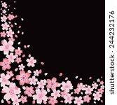 cherry blossom background | Shutterstock .eps vector #244232176