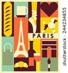 Vector Paris Background