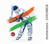 creative abstract cricket... | Shutterstock .eps vector #244238818
