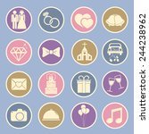 wedding icon | Shutterstock .eps vector #244238962