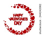 happy valentines day card....   Shutterstock .eps vector #244242082