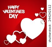 happy valentines day card.... | Shutterstock .eps vector #244242112