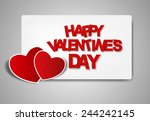 happy valentines day card.... | Shutterstock .eps vector #244242145