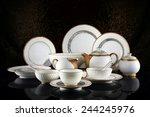 luxury ceramic tableware  | Shutterstock . vector #244245976