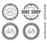 bicycle label set template... | Shutterstock .eps vector #244252306