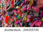 seoul   january 9   thousands... | Shutterstock . vector #244255735