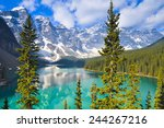 moraine lake  rocky mountains ... | Shutterstock . vector #244267216