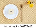 square earl grey rare... | Shutterstock . vector #244272418