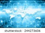 best internet concept of global ... | Shutterstock . vector #244273606
