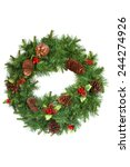 christmas  holiday decorations... | Shutterstock . vector #244274926