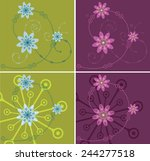 flowers abstract ornament...   Shutterstock .eps vector #244277518