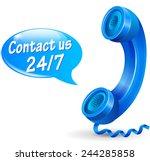 illustration of 24 hours... | Shutterstock .eps vector #244285858