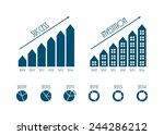 modern business infographics... | Shutterstock .eps vector #244286212