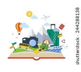book of travel | Shutterstock .eps vector #244288138