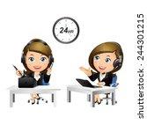 people set   business   women.... | Shutterstock .eps vector #244301215