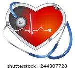 blood pressure monitoring  ... | Shutterstock . vector #244307728
