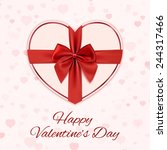 paper heart with red ribbon and ... | Shutterstock .eps vector #244317466