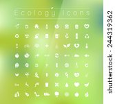 ecology icons | Shutterstock .eps vector #244319362
