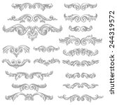 set of vector vintage baroque... | Shutterstock .eps vector #244319572