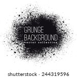 black ink vector spray stains | Shutterstock .eps vector #244319596