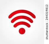 icon wi fi  | Shutterstock .eps vector #244319812