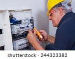 electrician | Shutterstock . vector #244323382