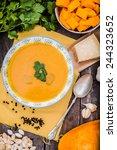 pumpkin soup | Shutterstock . vector #244323652