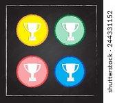 trophy vector button | Shutterstock .eps vector #244331152
