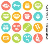 japanese food sushi collection. ... | Shutterstock .eps vector #244331392