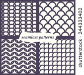 seamless geometric set with the ... | Shutterstock .eps vector #244333402