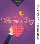 valentine's day vector design.... | Shutterstock .eps vector #244335772