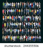people diversity success... | Shutterstock . vector #244355506