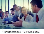 Stock photo business people meeting communication discussion working office concept 244361152