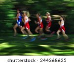 view of several women runners...   Shutterstock . vector #244368625