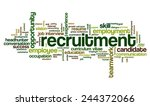 word cloud related to job... | Shutterstock .eps vector #244372066
