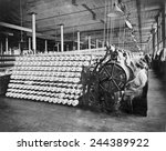 women working at textile... | Shutterstock . vector #244389922