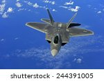 F 22 Raptor Fighter Flies Near...