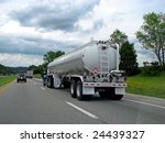 Big Fuel Gas Tanker Truck On...