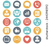 media and communication icons. ...