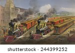 American Railroad Scene Shows...